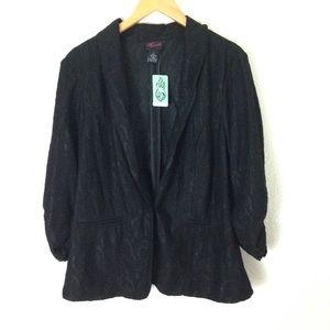 TORRID Laced up Blazer/ Goth Plus Sz 2 in Black